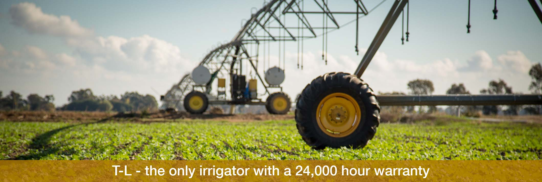 Eagle i farm machinery T-L – the only irrigator with a 24